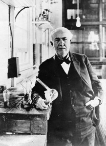Edison y la bombilla incandescente