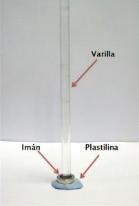 Preparación del experimento sobre levitación magnética
