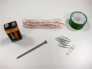 Los materiales necesarios para nuestro electroimán