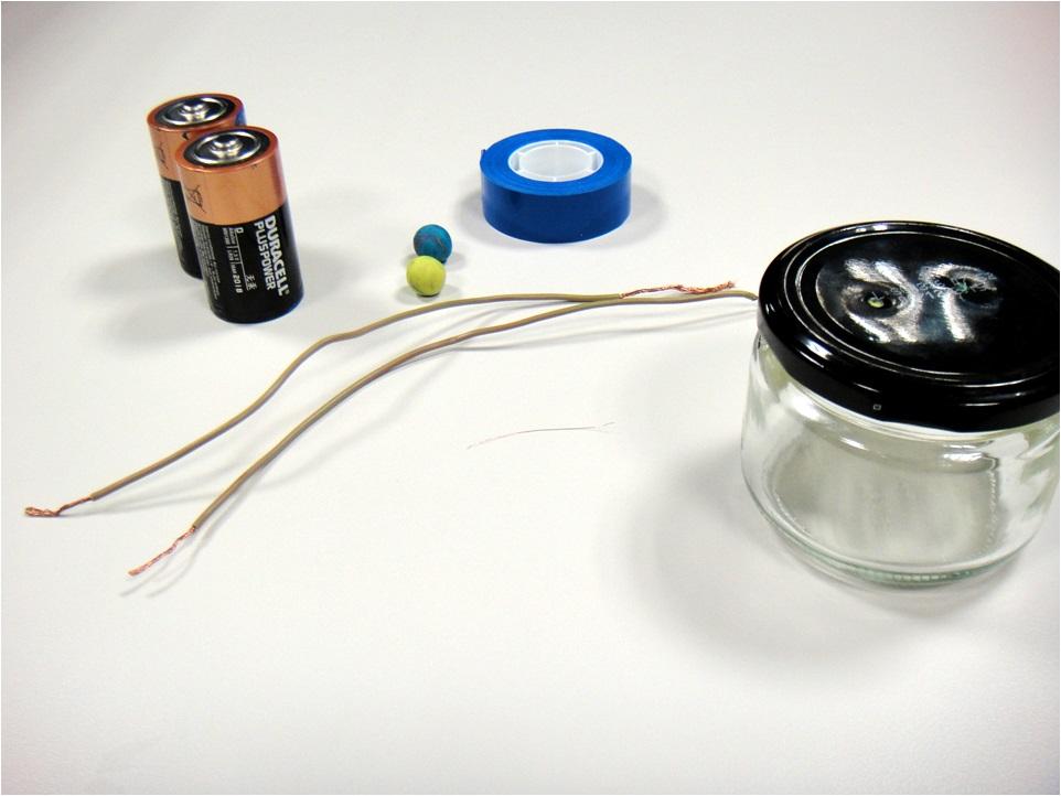 Los materiales necesarios para el experimento