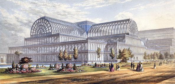 Crystal Palace para la Exposición Universal de Londres. Joseph Paxton, 1851