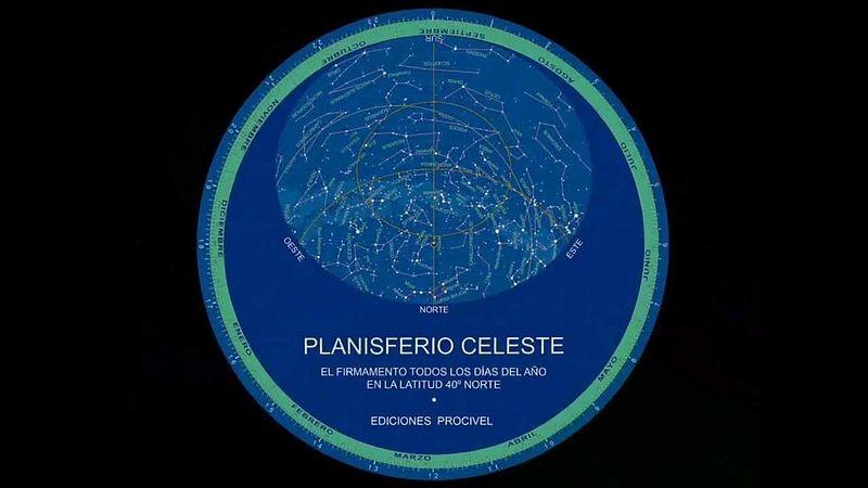 Ejemplo de planisferio celeste.