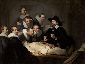 Lección de Anatomía del Dr. Nicolaes Tulp. Rembrandt, 1632.